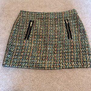 J. Crew Tweed Mini Skirt Size 2
